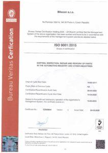 ISO Certifikat Blixcon EN